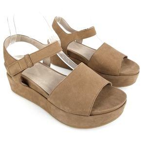 Eileen Fisher Jasper Platform Sandal Leather Camel